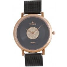 Swistar Women's Black Dial Stainless Steel Band Watch [1.601-3L]